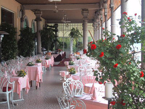 Veranda of the restaurant
